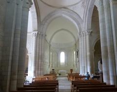 Eglise Sainte-Radegonde - English: Talmont-sur-Gironde ( Charente-Maritime ). Sainte-Radegonde church ( 12th century ) - Interior.