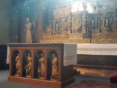 Eglise Saint-Porchaire - Français:   Autel de l\'église Saint-Porchaire de Poitiers
