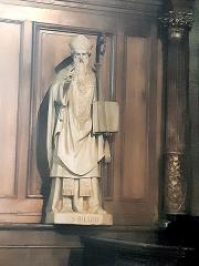 Eglise Saint-Porchaire - Français:   Statue de Saint Hilaire à Saint-Porchaire de Poitiers