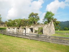 Fort Saint-Charles, Fort Richepance ou Fort Delgrès, puis laboratoire de vulcanologie - Le Fort Louis Delgrès (Pavillon des officiers)