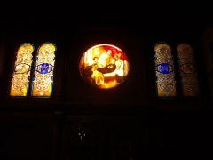 Abbaye Saint-Clément - Ancienne chapelle des Jésuites de l'abbaye Saint-Clément de Metz (Moselle, France); vitrail représentant Ignace de Loyola