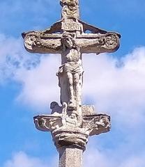 Cimetière - Français:   Balléville - Croix de cimetière - détail recto: Christ