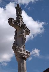 Cimetière - Français:   Balléville - Croix de cimetière - Christ en recto