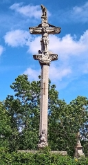 Cimetière - Français:   Balléville - Croix de cimetière classé Monument Historique - Recto