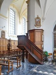 Eglise Saint-Sauveur - Français:   Chaire du prêche de l\'église Saint-Sauveur d\'Ham-en-Artois. Pas-de-Calais, France.