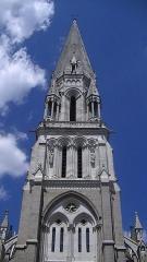 Eglise Saint-Nicolas - English: Steeple of the Basilica of Saint Nicholas, Nantes
