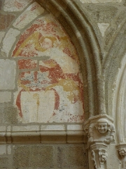Abbaye bénédictine Notre-Dame d'Evron devenue Couvent de la Charité d'Evron - Peinture murale de la basilique Notre-Dame de l'Épine d'Évron (53).