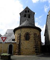 Eglise paroissiale Notre-Dame - Français:   Extérieur de l\'église Notre-Dame de Cossé-en-Champagne (53). Chevet.
