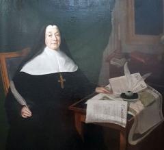Maison, dans la cour du Musée des Antiquaires de Normandie - English: Marie VI Aimée-Jacqueline Le Doulcet de Pontécoulant, last abbess of the Abbaye aux Dames of Caen