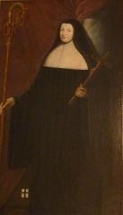 Maison, dans la cour du Musée des Antiquaires de Normandie - English: Marie VI Aimée-Jacqueline Le Doulcet de Pontécoulant, last abbess of the Abbey of Sainte-Trinité, Caen from 1787 to 1792