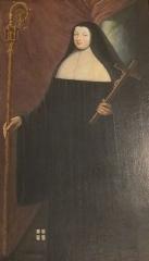 Maison, dans la cour du Musée des Antiquaires de Normandie - Tableau de Marie VI Aimée Jacqueline Le Doulcet de Pontécoulant, dernière abbesse de la Trinité de Caen (1787-1792)