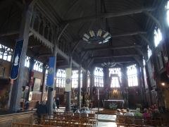 Eglise Sainte-Catherine - Français:   Intérieur de l\'église Ste Catherine à Honfleur (76)