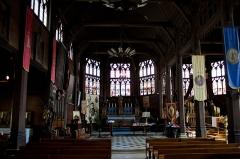 Eglise Sainte-Catherine - Français:   nef et coeur du XVe siècle, Eglise Sainte Catherine, Honfleur