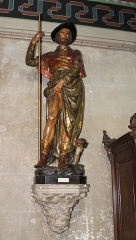 Eglise Saint-Léonard - Français:   Statue de St Roch dans l\'église St Léonard