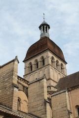 Eglise Notre-Dame et son presbytère - Collégiale Notre-Dame (Beaune, Côte-d'Or), vue depuis l'impasse Notre-Dame.