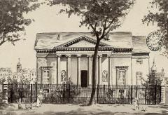 Hôtel Saint-Père - Français:   Maison Saint-Père, rue des Godrans, estampe, lavis, 12 x 17 cm, Bibliothèque municipale de Dijon, cote: L Est. AG-III 2 (aquarelle originale à la cote L Est. 1083).