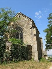 Chapelle de Lenoux - English: Apse of the chapelle de Lenoux (Laives, Saône-et-Loire, France).