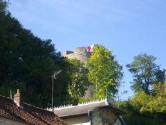 Ancien château fort de Guise - Château de Guise (Aisne, France): donjon vu du boulevard Jean-Jaurès