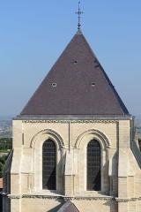 Ancienne cathédrale, actuellement église Notre-Dame, et cloître - Deutsch: Laternenturm der Kathedrale Notre-Dame von Laon, Picardie, Frankreich  (Ansicht vom Südwestturm)