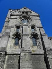 Eglise Saint-Martin - Abbatiale Saint-Martin de Laon (02). Mur sud du croisillon méridional.