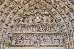 Cathédrale Notre-Dame - Français:   Amiens tympan central.