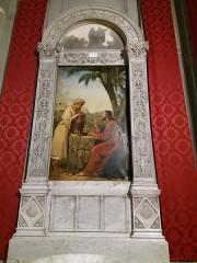 Eglise Saint-Just - Français:   Tableau (côté façade).