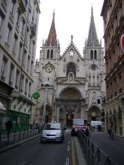 Eglise Saint-Nizier - Eglise Saint-Nizier de Lyon. Vue de la façade d'entrée.