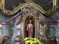 Eglise catholique Saint-Maurice - Alsace, Bas-Rhin, Église Saint-Maurice de Fegersheim (PA00132525, IA00023146).  Autel secondaire de la Sainte Parenté (1780-1847): Statuette du