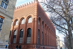 Institut d'Art et d'Archéologie -  Odéon / Rue Michelet Institute of Art and Archeology, former Bibliothèque Jacques Doucet. The syncretism of the Institute, sailing between Moorish, Babylonian and Medieval art, makes the building rather special. Arch. Paul Bigot  1925-28