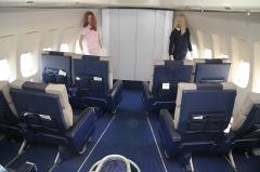 Aérogare du Bourget -  Boeing 747-100 Main Deck Nose Interior