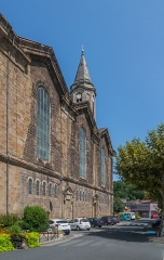 Eglise paroissiale Notre-Dame - English: South-east facade of the Our Lady Church of Decazeville, Aveyron, France