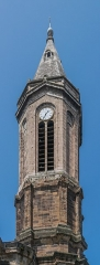 Eglise paroissiale Notre-Dame - English: Bell tower of the Our Lady Church of Decazeville, Aveyron, France