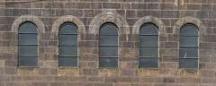 Eglise paroissiale Notre-Dame - English: Windows of the Our Lady Church of Decazeville, Aveyron, France