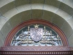 Phares de la pointe de Penmarc'h - English:   Eckmühl lighthouse\'s door\'s transom.