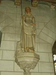 Eglise Saint-Martin - Église Saint-Martin de Lignières-de-Touraine (Indre-et-Loire, France): statue de sainte Germaine (?)