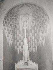 Eglise Saint-Martin dite Notre-Dame des Glaces - Français:   Fresque monumentale du Chœur, réalisée en 1929 sous la conduite de Sophie CHARLEMAGNE, aujourd\'hui disparue. Un projet de restitution par vidéo mapping est à l\'étude.