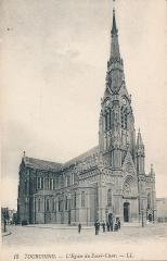 Eglise du Sacré-Coeur - Français:   Église du Sacré-Cœur de Tourcoing vers 1900.