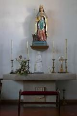 Eglise catholique Saint-Etienne -  Alsace, Bas-Rhin, Seltz, Église Saint-Étienne (PA67000069, IA67007467): Chapelle Sainte-Adelaïde, Autel secondaire.