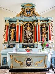 Chapelle Saint-Brice - Français:   Autel et retable de la chapelle Saint-Brice