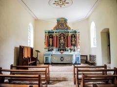 Chapelle Saint-Brice - Français:   Nef de la chapelle