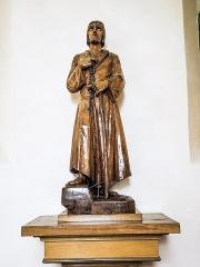 Chapelle Saint-Brice - Français:   Statue de Saint-Brice (?)
