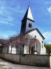 Eglise -  église du 16ème siècle: nef à 3 travées, porche milieu 17ème siècle, chevet à 3 pans