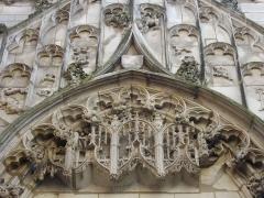 Eglise de la Madeleine et ancien cimetière -  Portail du jardin des Innocents, ancien cimetière de l'église de la Madeleine de Troyes (Aube, France)