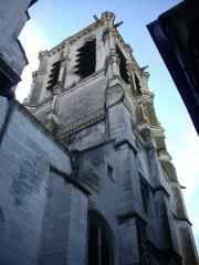 Eglise de la Madeleine et ancien cimetière -  Église de la Madeleine de Troyes (Aube, France), clocher vu de l'ouest