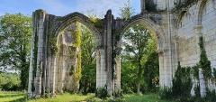 Eglise abbatiale de Blanchefosse (restes) - Deutsch:   Kloster Bonnefontaine (Abbaye de Bonnefontaine) Blanchefosse-et-Bay 07