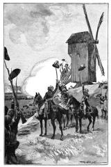 Moulin de Valmy - Français:   Illustration tirée de Histoire de France, cours élémentaire, Ernest Lavisse, Armand Colin, 1913, page 155 de l\'édition Heath de 1919.