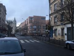 Eglise Saint-Germain - Français cadien:  Avenue Danielle Casanova à Vitry-sur-Seine
