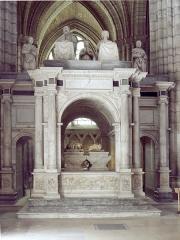 Basilique Saint-Denis -  Tombeau de François Ier et de Claude de France, dans la basilique Saint-Denis (France).