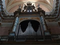 Eglise Saint-Michel - Français:   Sospel (Alpes-Maritimes, France), co-cathédrale Saint-Michel, orgue construit par Nicodème Agati & son frère Joannes en 1843, restauré par Francesco Vittino en 1891, restauré par Jean-François Muno en 1988.
