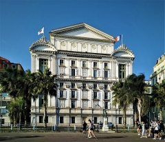 Opéra - English:  Opera House in Nice-view from the Promenade des Anglais